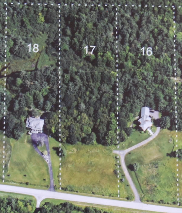 Lot depth at the Saddlebrook Estates